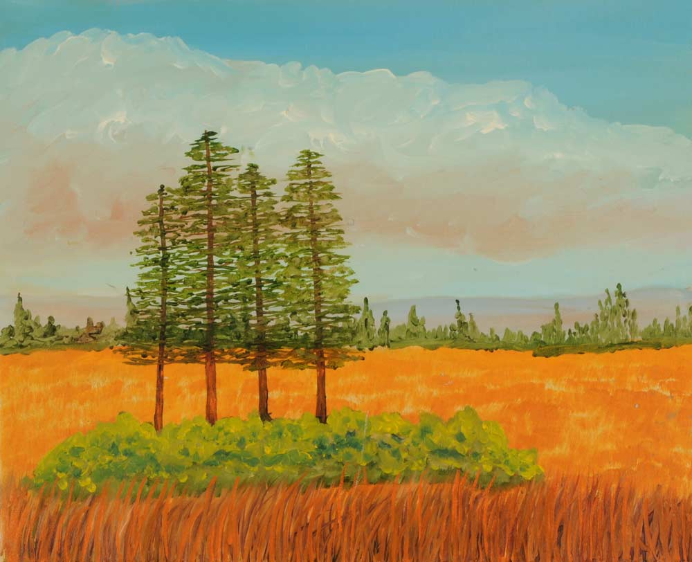 Four Trees 16 x 20