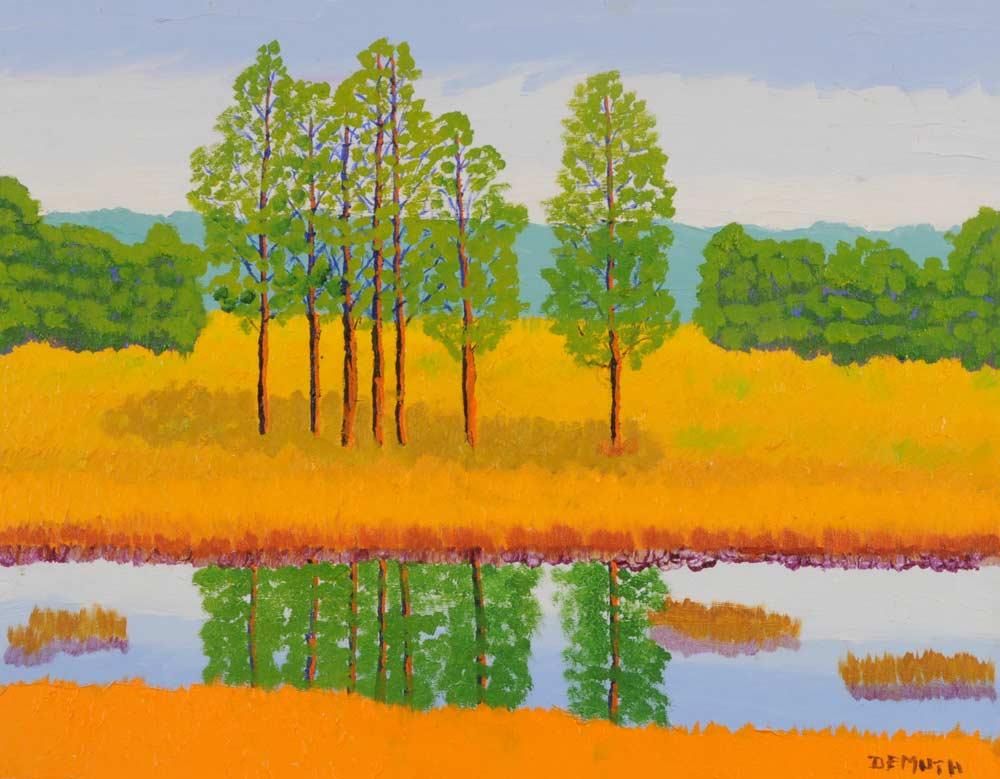 Trees Reflection 16 x 20