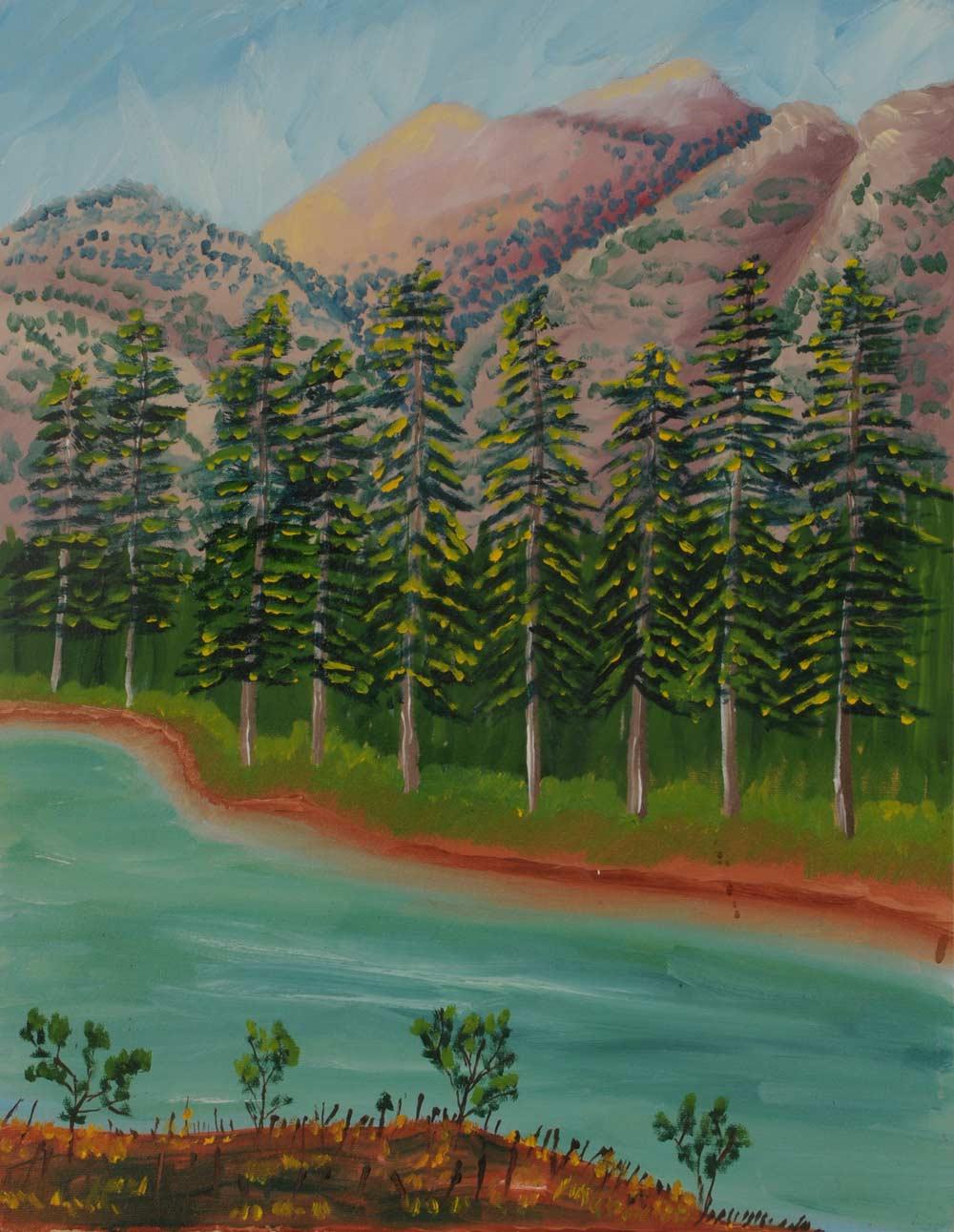 Nine Trees  16 x 20