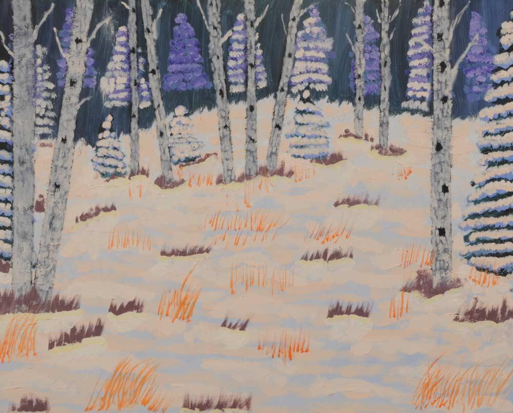 Zebra Trees 16 x 20