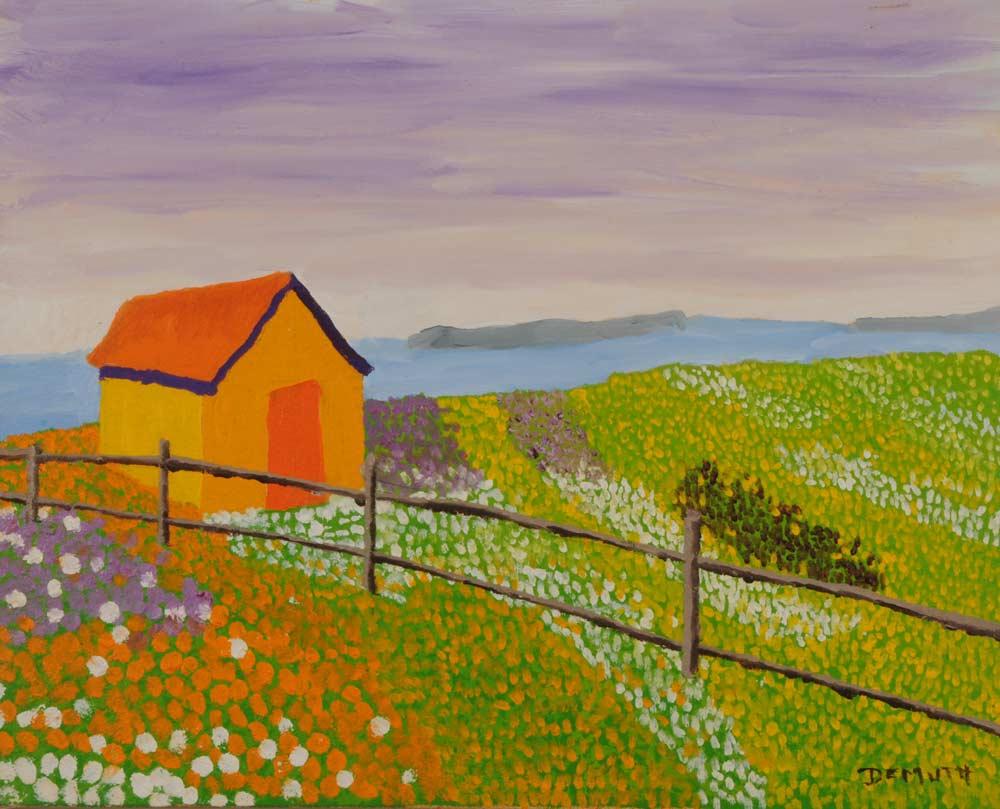 Orange Barn 16 x 20