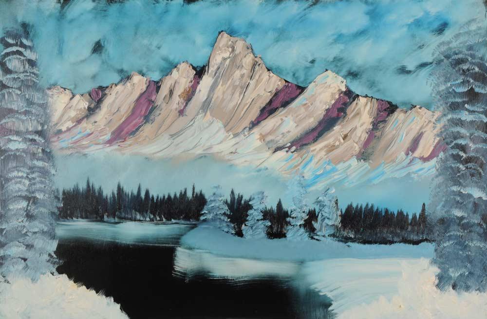 Winter Mountain 24 x 36