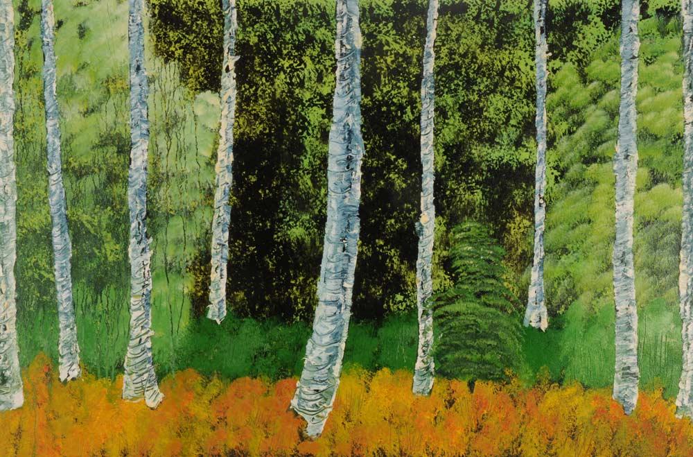 Nine Birch Trees 24 x 36