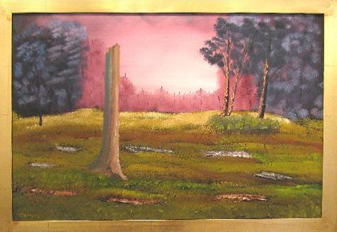Pink Stump 24 x 36